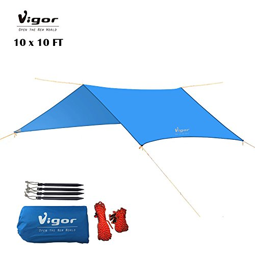 Vigor Waterproof ...  sc 1 st  7 Summits Outfitters & Vigor Waterproof Rainfly 10x10 ft Large Tent Tarp for Camping and ...